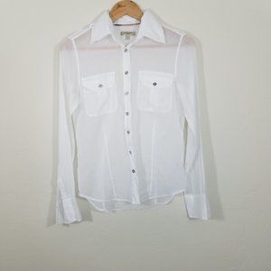 Burberry Button Down Long Sleeve Shirts Size 6
